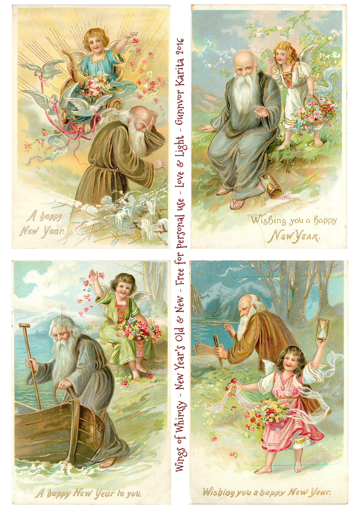 Wings of Whimsy: New Year's Old & New #vintage #ephemera #freebie #printable #new #year #fathertime