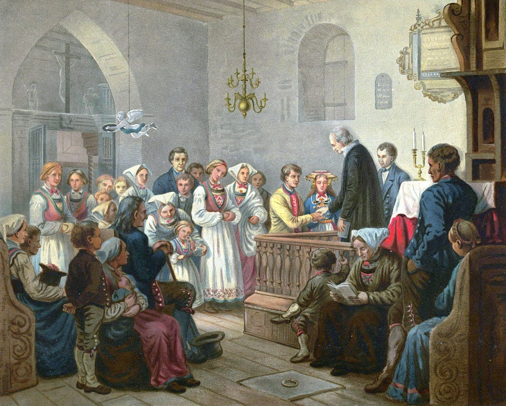 Wings of Whimsy: Bergslien - A Wedding Ceremony 1858