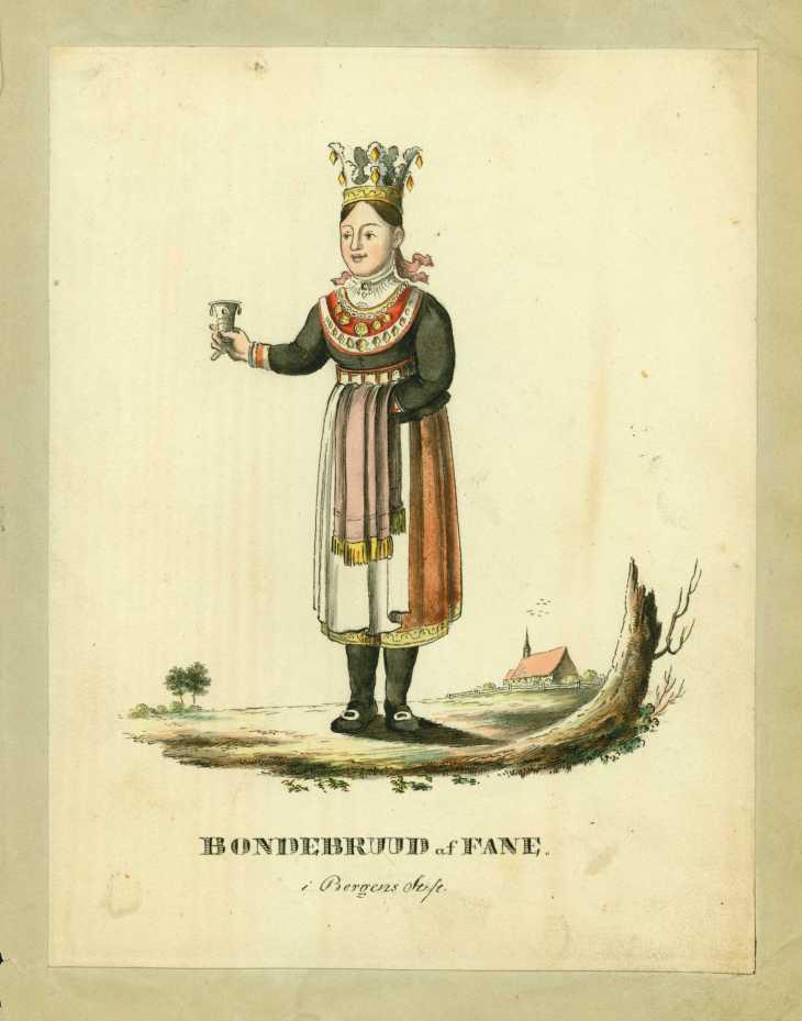 Wings of Whimsy: Johan Dreier period 1800-1833 Bride from Fana (Bergen)