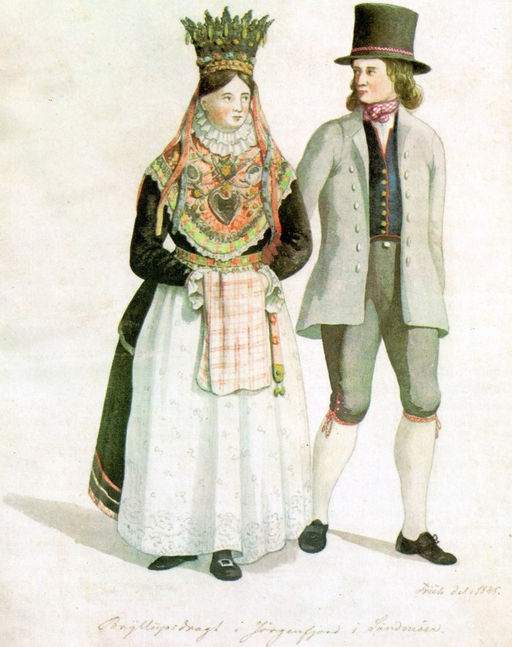 Wings of Whimsy: Frich - Bride & Groom Sunnmøre 1845