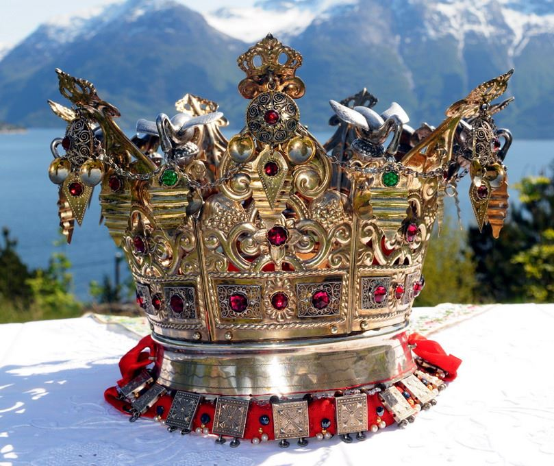 Wings of Whimsy: Norwegian Bridal Crowns Gallery - Hardanger