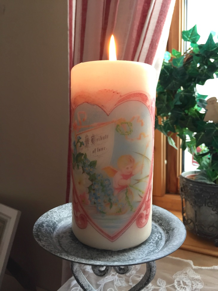 Wings of Whimsy: DIY Romantic Pillar Candles #romantic #valtentine #pillar #candle #instructions