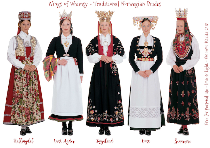 Wings of Whimsy: Traditional Norwegian Brides