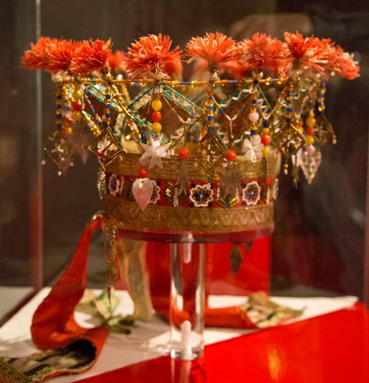 Wings of Whimsy: Norwegian Bridal Crowns Gallery - Perlekrune Ullensvang