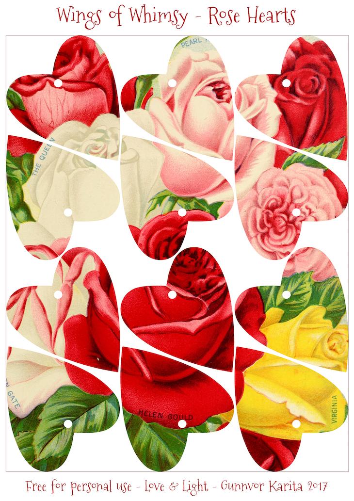 Wings of Whimsy: Antique Seed Catalogs Reinvented - Rose Hearts #vintage #ephemera #printable #freebie #seed #catalog #rose #heart-kopi
