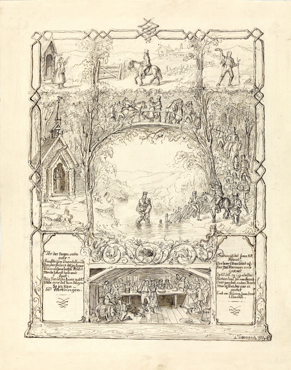 Wings of Whimsy: Adolph Tidemand - Raad for uraad 1848