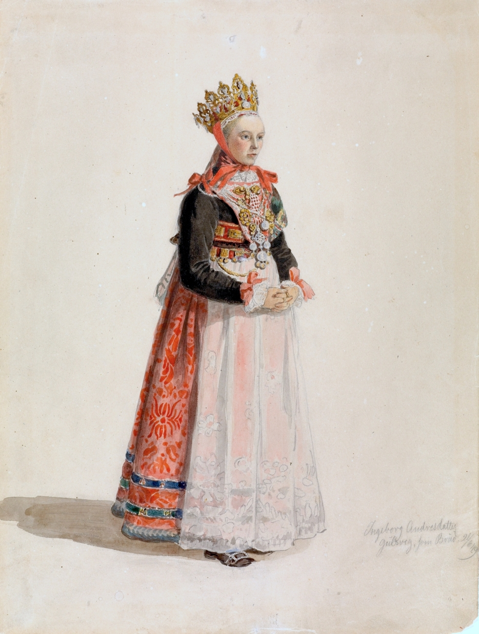 Wings of Whimsy: Adolph Tidemand - Bride from Hallingdal 1849