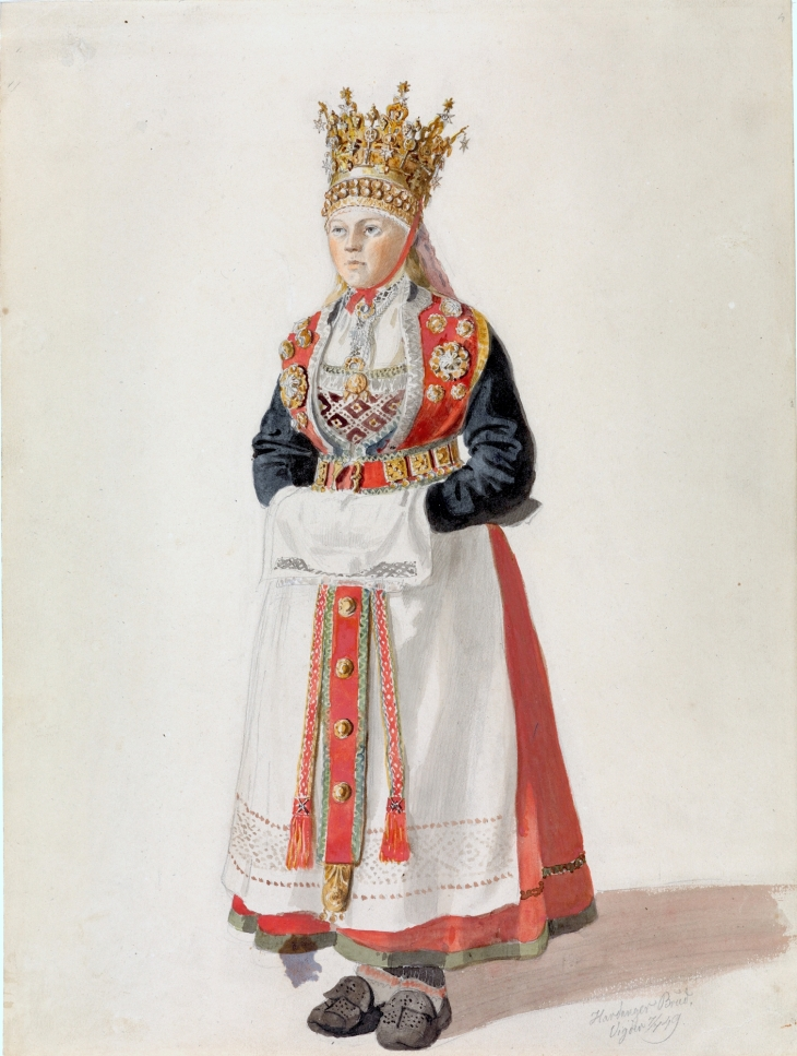 Wings of Whimsy: Adolph Tidemand - Bride from Hardanger 1849