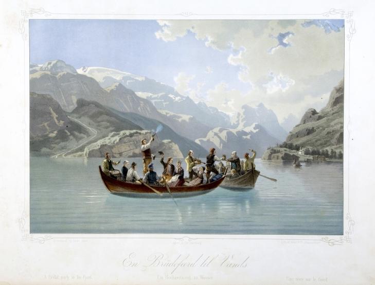 Wings of Whimsy: Adolph Tidemand - En brudeferd til vanns 1854