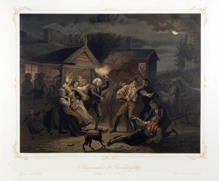 Wings of Whimsy: Adolph Tidemand - Slagsmål i et bondebryllup 1861