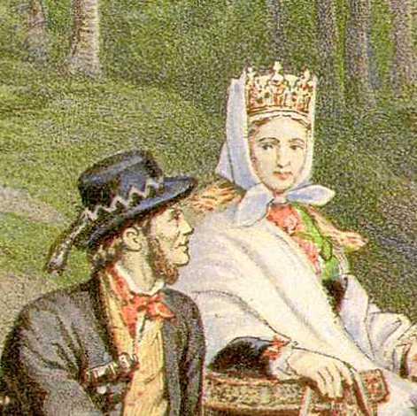 Wings of Whimsy: Adolph Tidemand - Brudetog gjennom skogen 1873