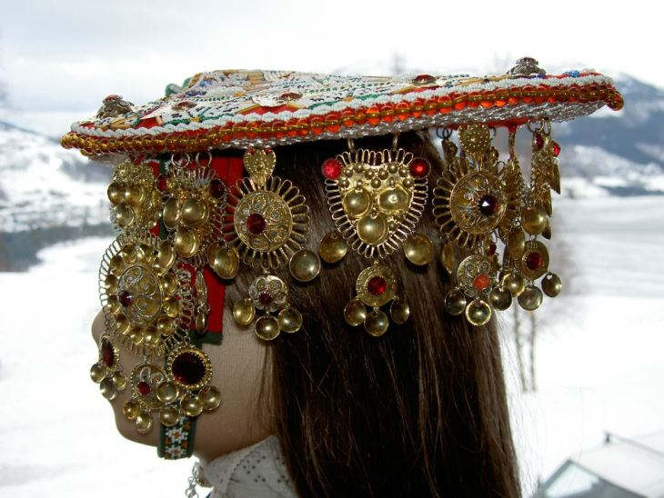 Wings of Whimsy: Norwegian Bridal Crowns Gallery - Voss Lad 1800