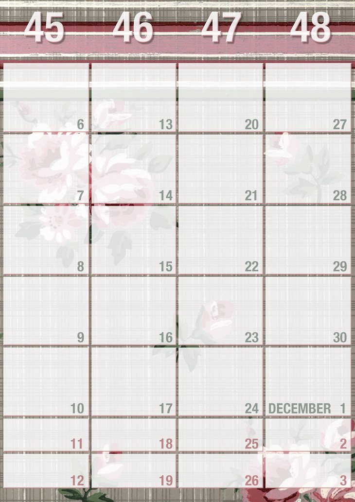 Wings of Whimsy: Weekly Wallpaper Planner 2017 #vintage #freebie #printable #calendar #planner #wallpaper