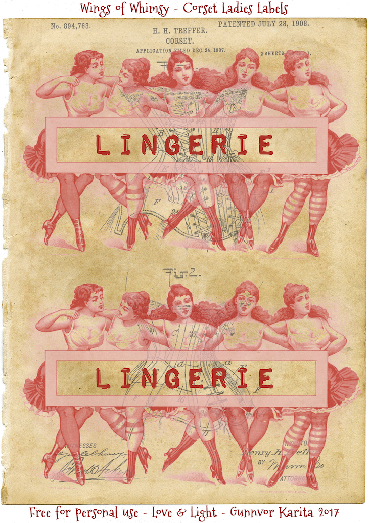 Wings of Whimsy: Corset Ladies Label #vintage #epehemera #ladies #corset #label