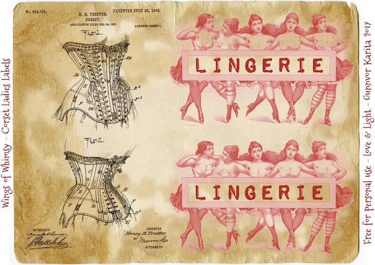 Wings of Whimsy: Corset Ladies Label #vintage #epehemera #ladies #corset #label