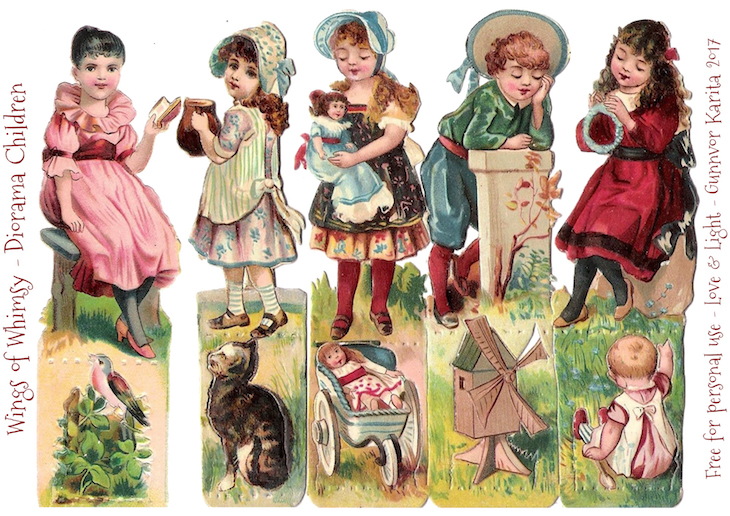 Wings of Whimsy: Diorma Children #vintage #ephemera #freebie #printable #children #diorama