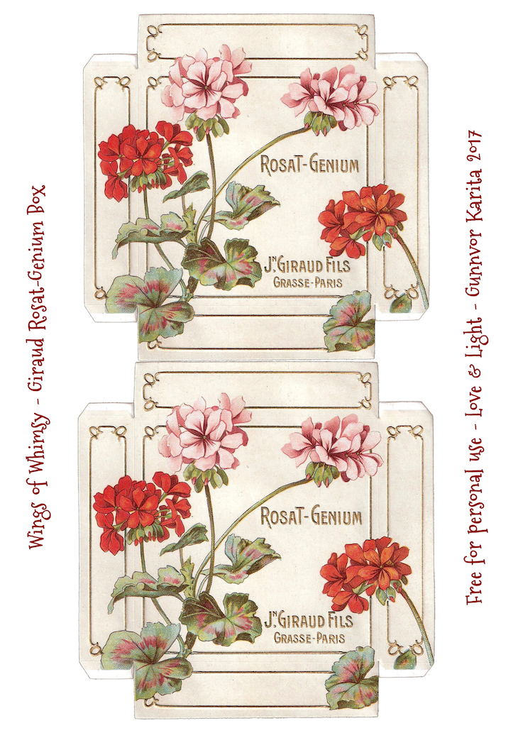 Wings of Whimsy: Giraud Fils Rosat Genium Box #diy #vintage #ephemera #printable #freebie #french #soap #box