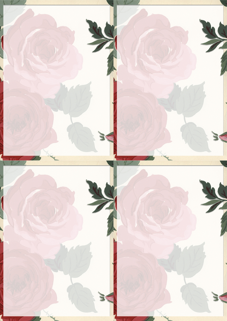 Wings of Whimsy: Rose Wallpaper Stationery #vintage #ephemera #freebie #printable #rose #wallpaper #stationery