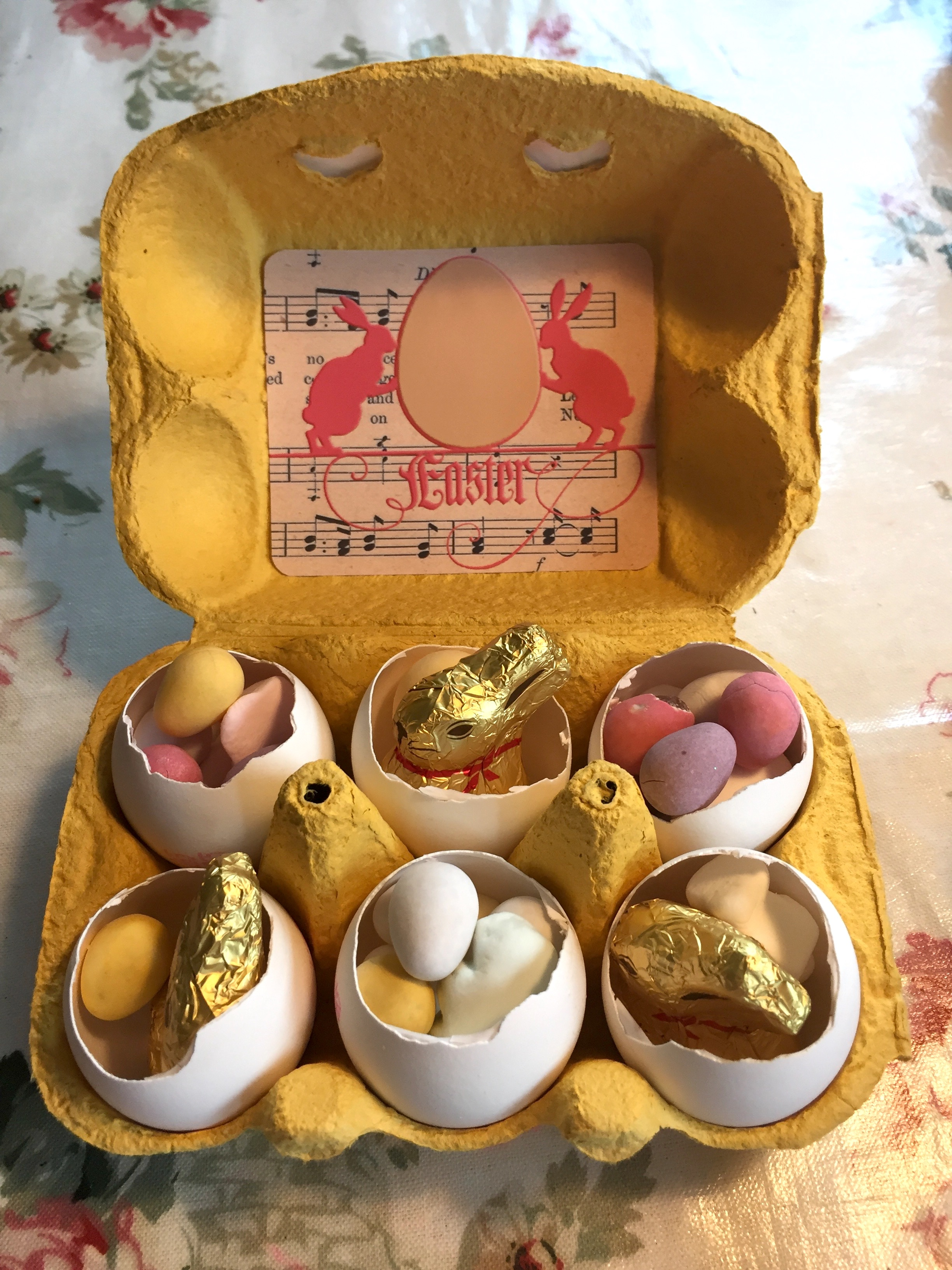 Egg carton labels children wings of whimsy my easter egg cartons are filled with yummy easter treats and are great as little gifts to friends or family or as a hostess gift if you are invited to an negle Image collections